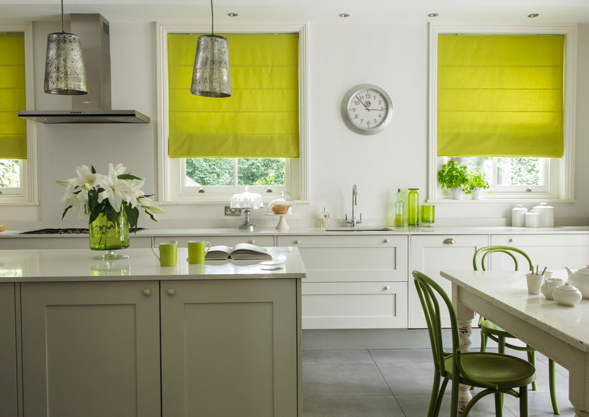 Kitchen-Roman-Blinds-Lime-Green-1200×850
