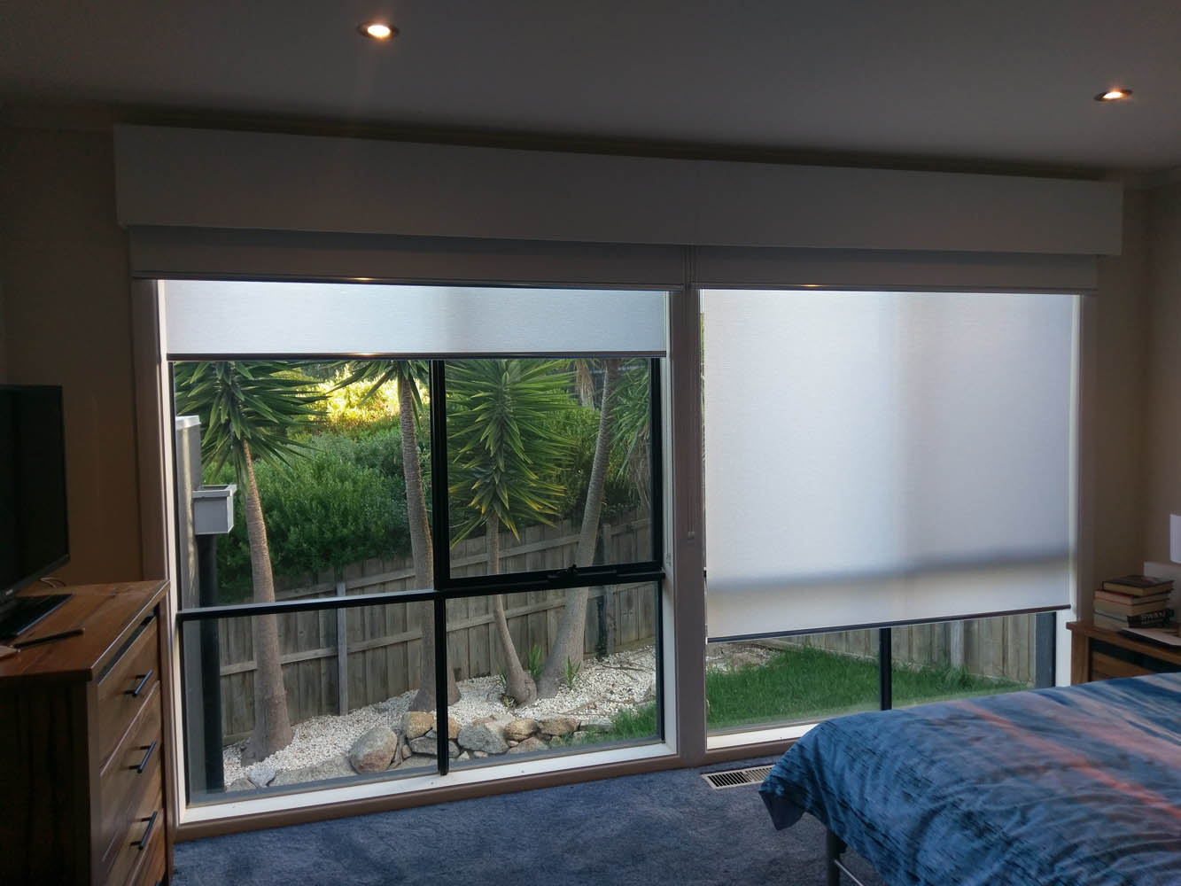 Day and Night Bedroom Blinds Installation in Torquay