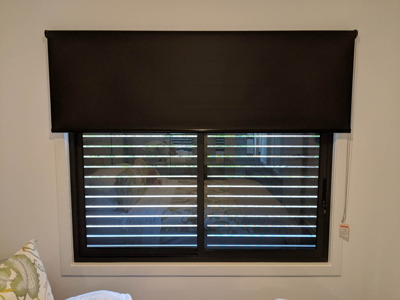 Custom Black Roller Blind in Melbourne