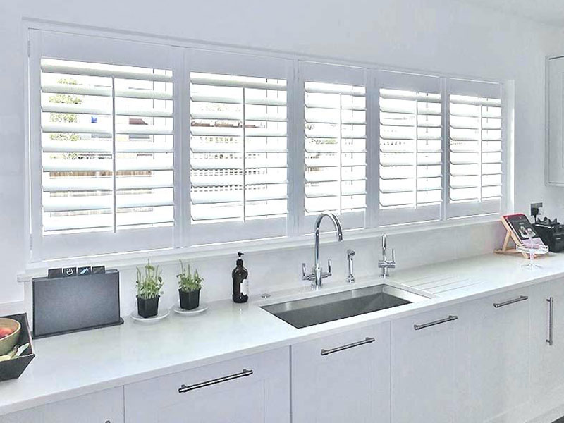 Opening Hinged Kitchen Plantation Shutters in Pascoe Vale