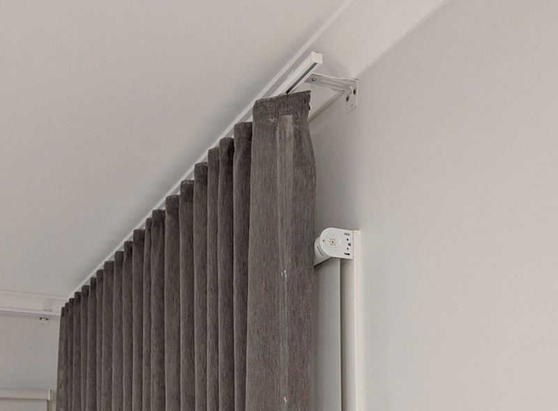 Wall Fixed S Fold Tracked Curtains
