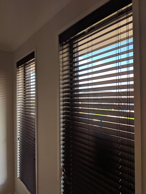 Dark Fauxwood PCV Venetian Blinds