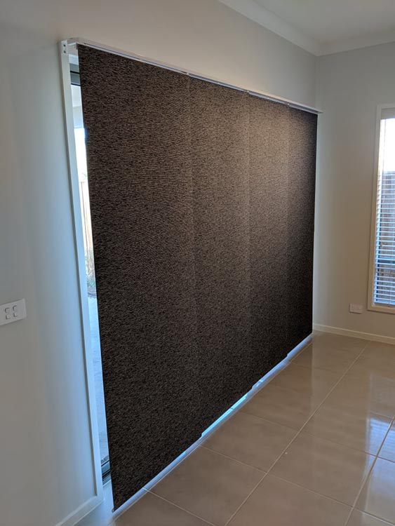 Panel Blinds Fully Closed - Tarneit Project
